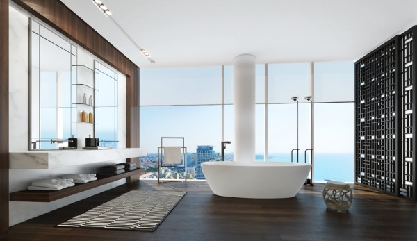 5.modern bathtub