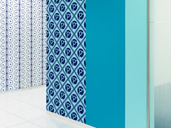 9 bold blue patterened walls