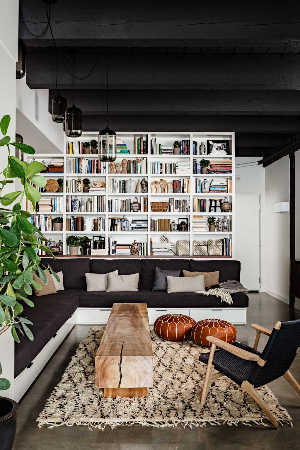 curated shelves