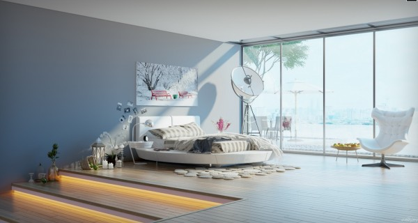 elevated bedroom