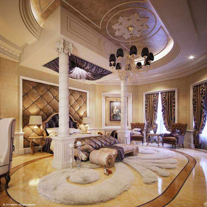 Luxurious bedroom interior design ideas for Fancy houses inside