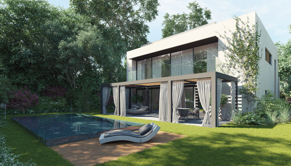 Home Visualizations Take You Back To Nature: modern two story homes