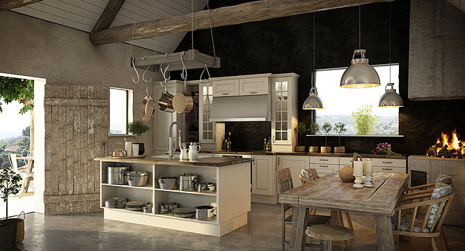 Rustic kitchen interior design ideas for Rustic modern kitchen ideas