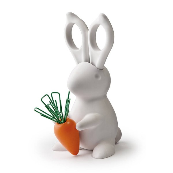 In addition to being extremely cute, this bunny has scissors for ears and paperclips for a carrot. Talk about multitasking.