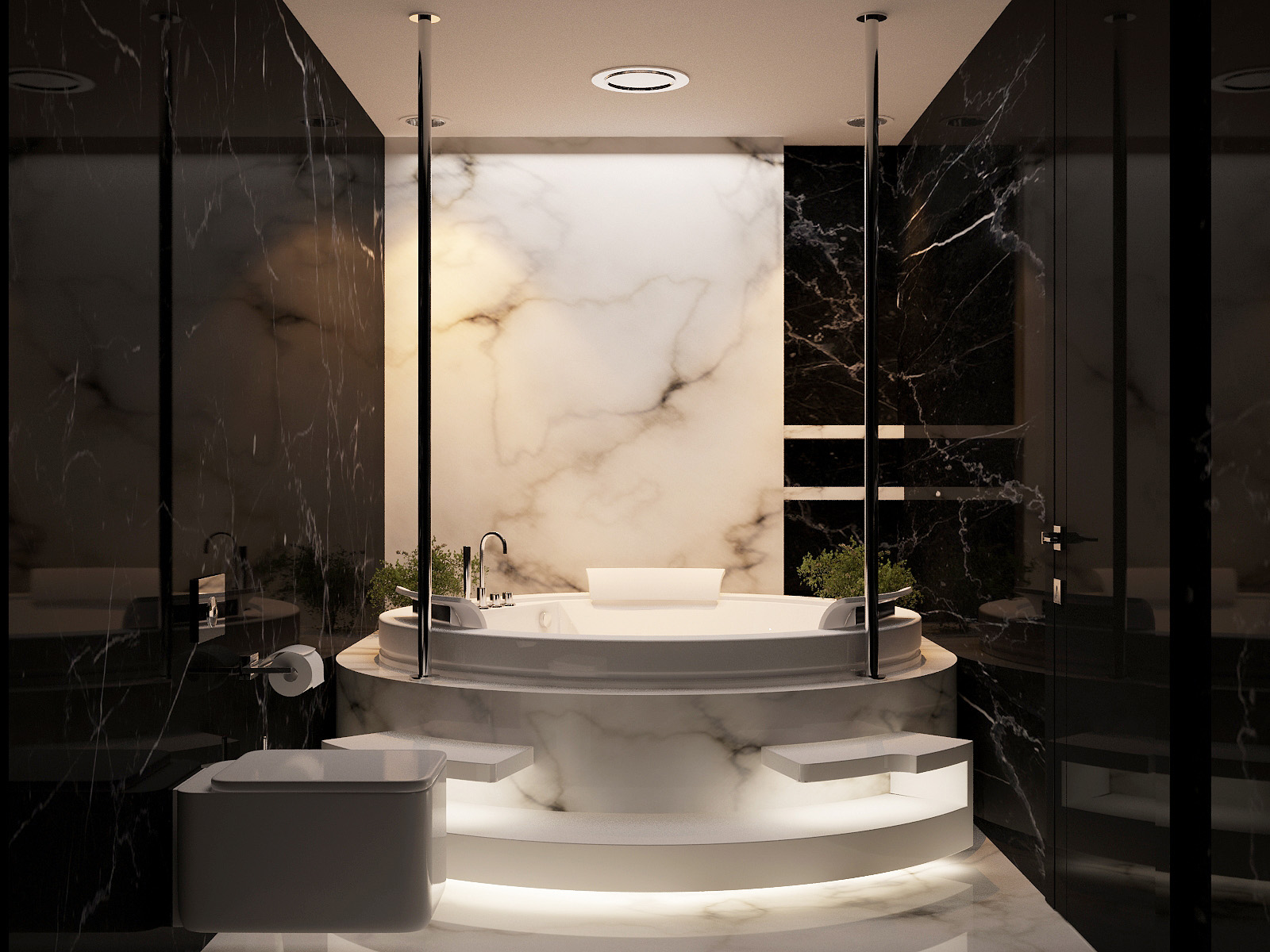 Marble Interior All Marble Bathroom  Interior Design Ideas.