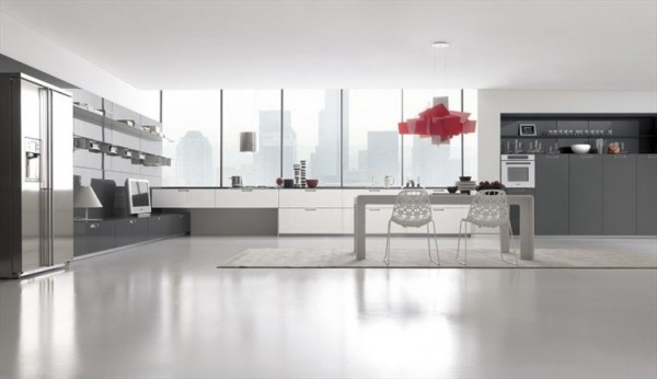 With a bit more space to spare, this expansive penthouse kitchen is a gourmet's dream.