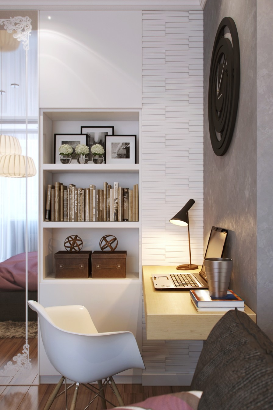 Office In Bedroom Small Bedrooms Use Space In A Big Way