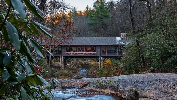 Bridge House: Home Across A Stream