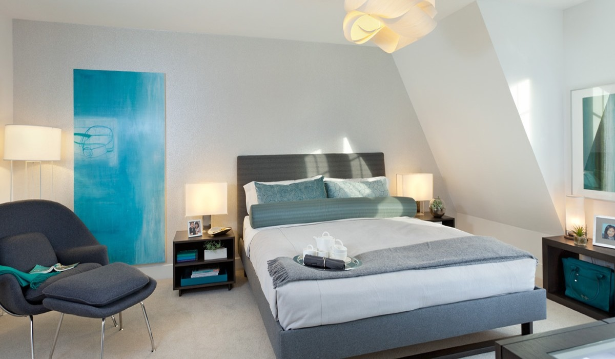 Bright Modern Bedroom - Playfully colorful interiors