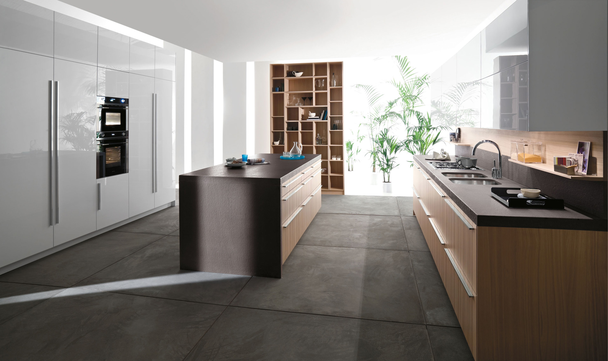 Modern italian kitchens from snaidero for Modern large kitchen design
