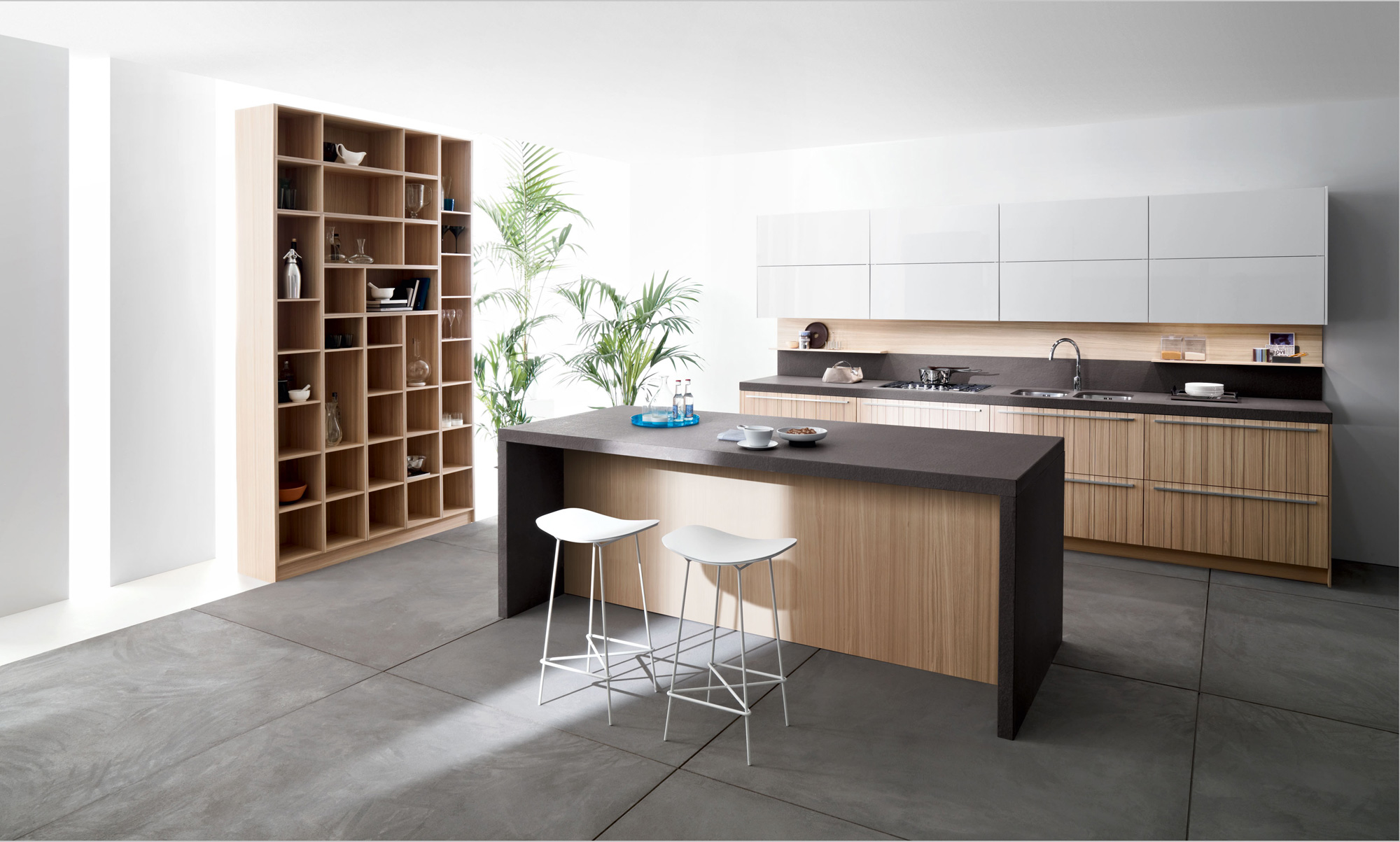 Modern italian kitchens from snaidero for Modern kitchen design with bar