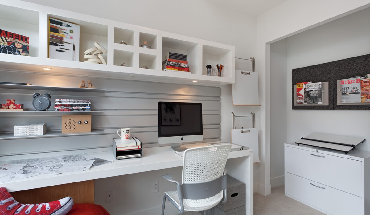 Creative office area interior design ideas Creative home office design