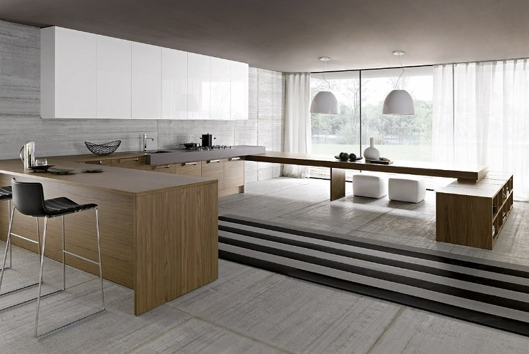 Minimalist kitchen designs for Zen style kitchen designs