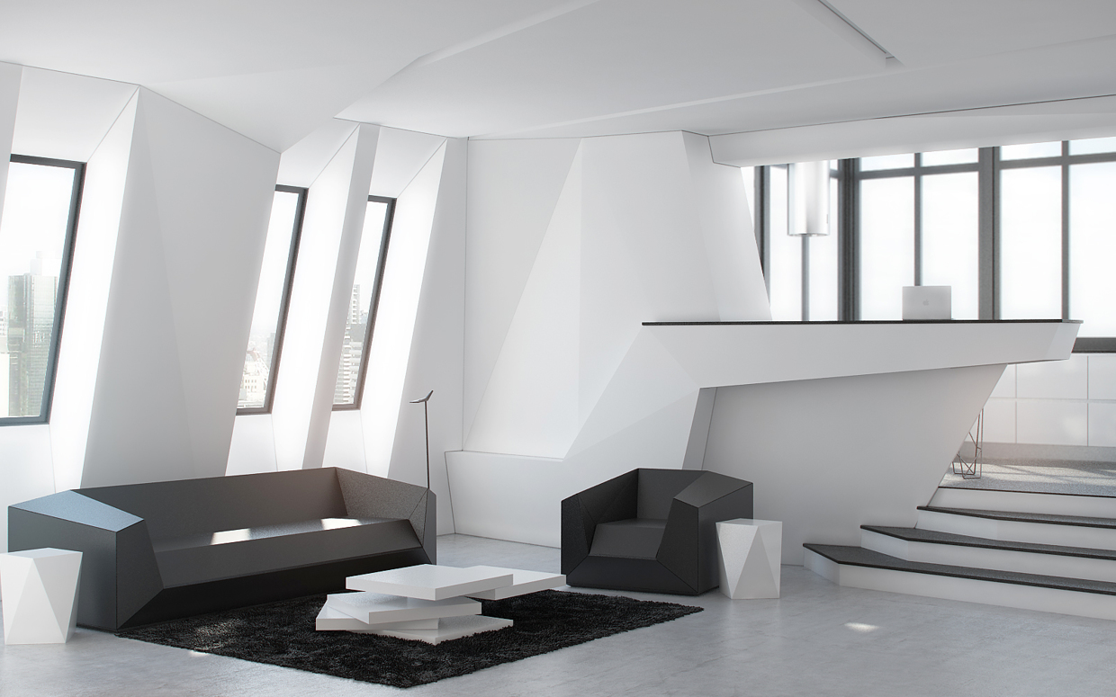 the rooms in this futuristic home have a kind of desirable chaos