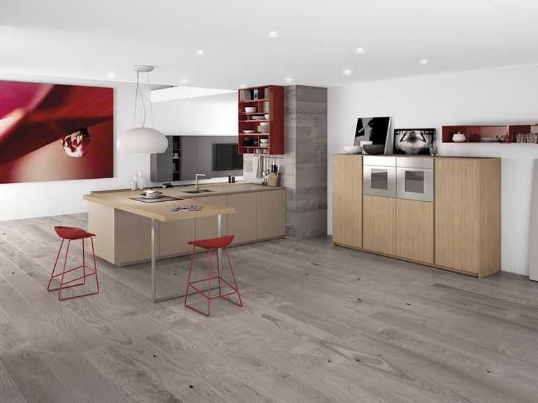 Grey wood floor interior design ideas for Wood flooring kitchen ideas