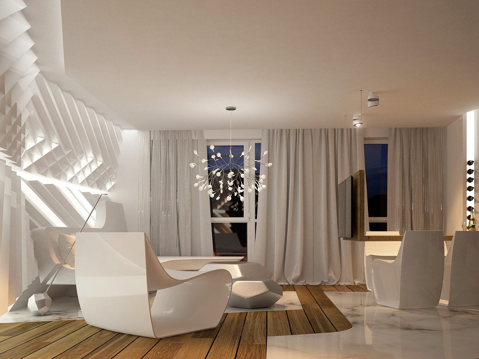 futuristic interior design - Home Interior Designing