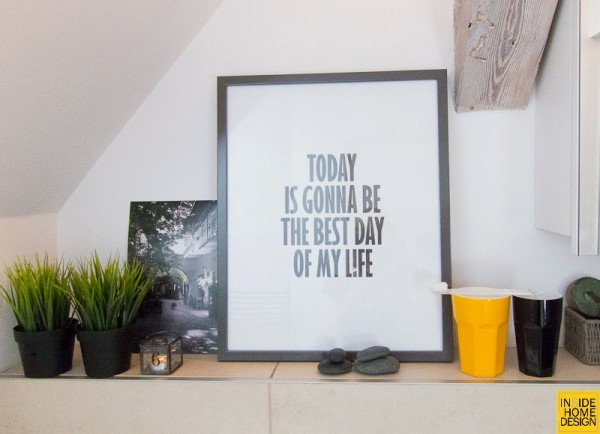 inspirational framed quote