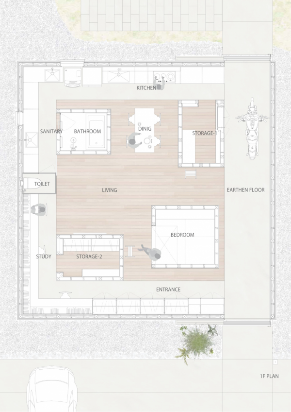 Japanese house floorplan interior design ideas for Japanese house floor plan design