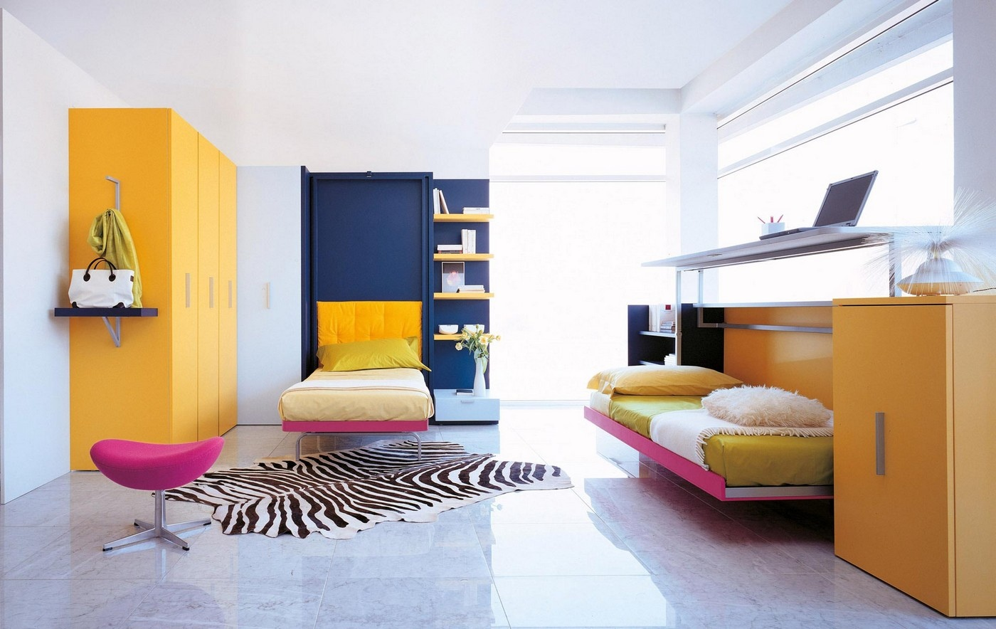Transformable space saving kids rooms - Fold up beds for small spaces ...