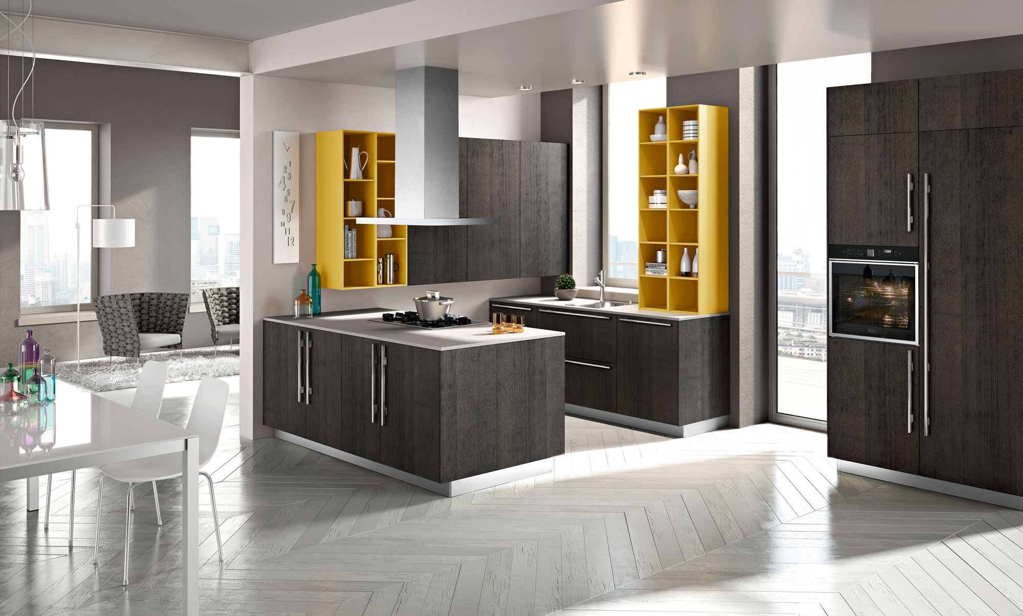Modern italian kitchens from snaidero for Kitchen design open plan