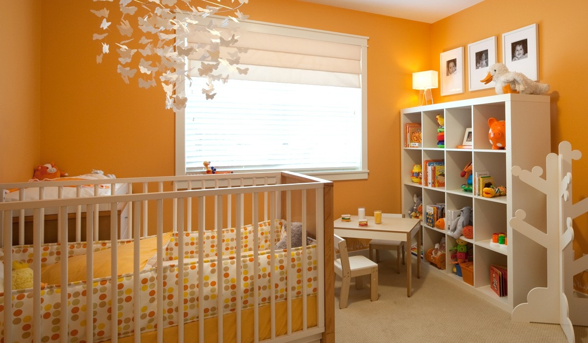 orange nursery interior design ideas