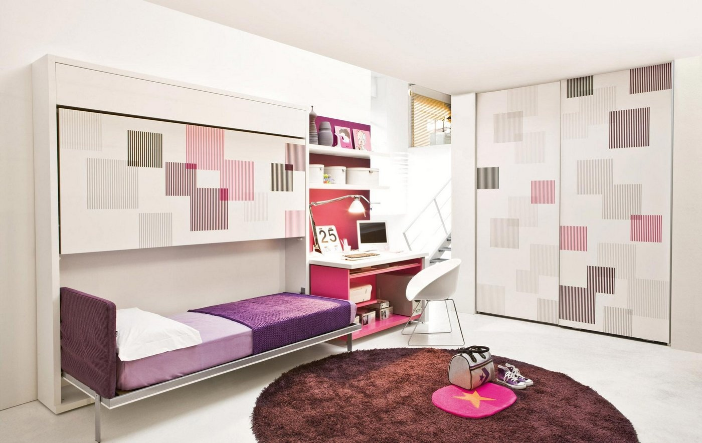 Transformable space saving kids rooms for Organized kids rooms