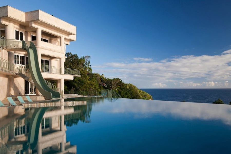 Mansions With Pools And Waterslides hawaiian oceanfront mansion with spectacular views and 50m lap pool