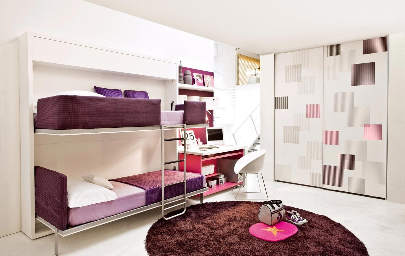 Transformable space saving kids rooms - Purple room for girls ...
