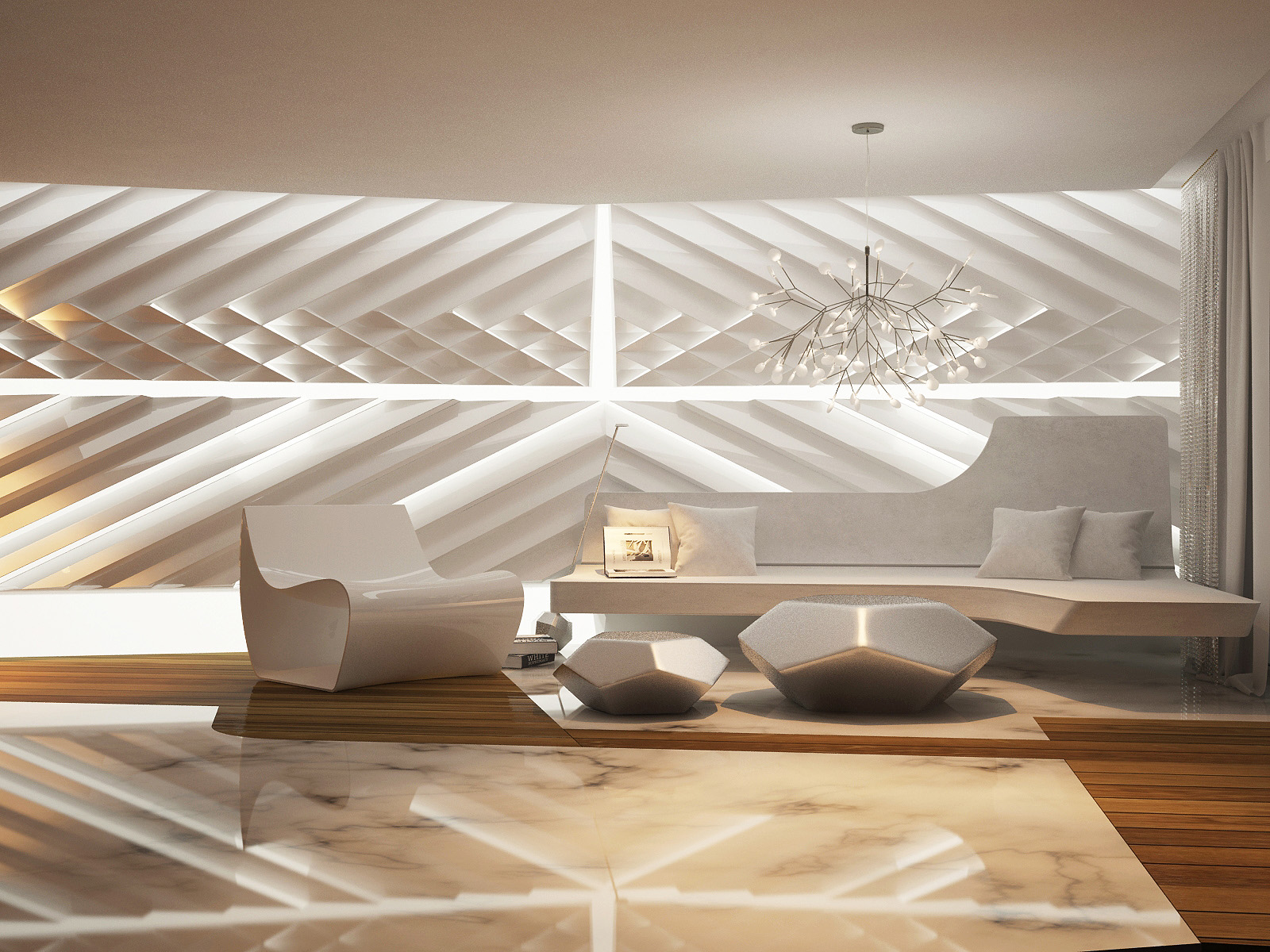 Futuristic interior design for Exquisite interior designs