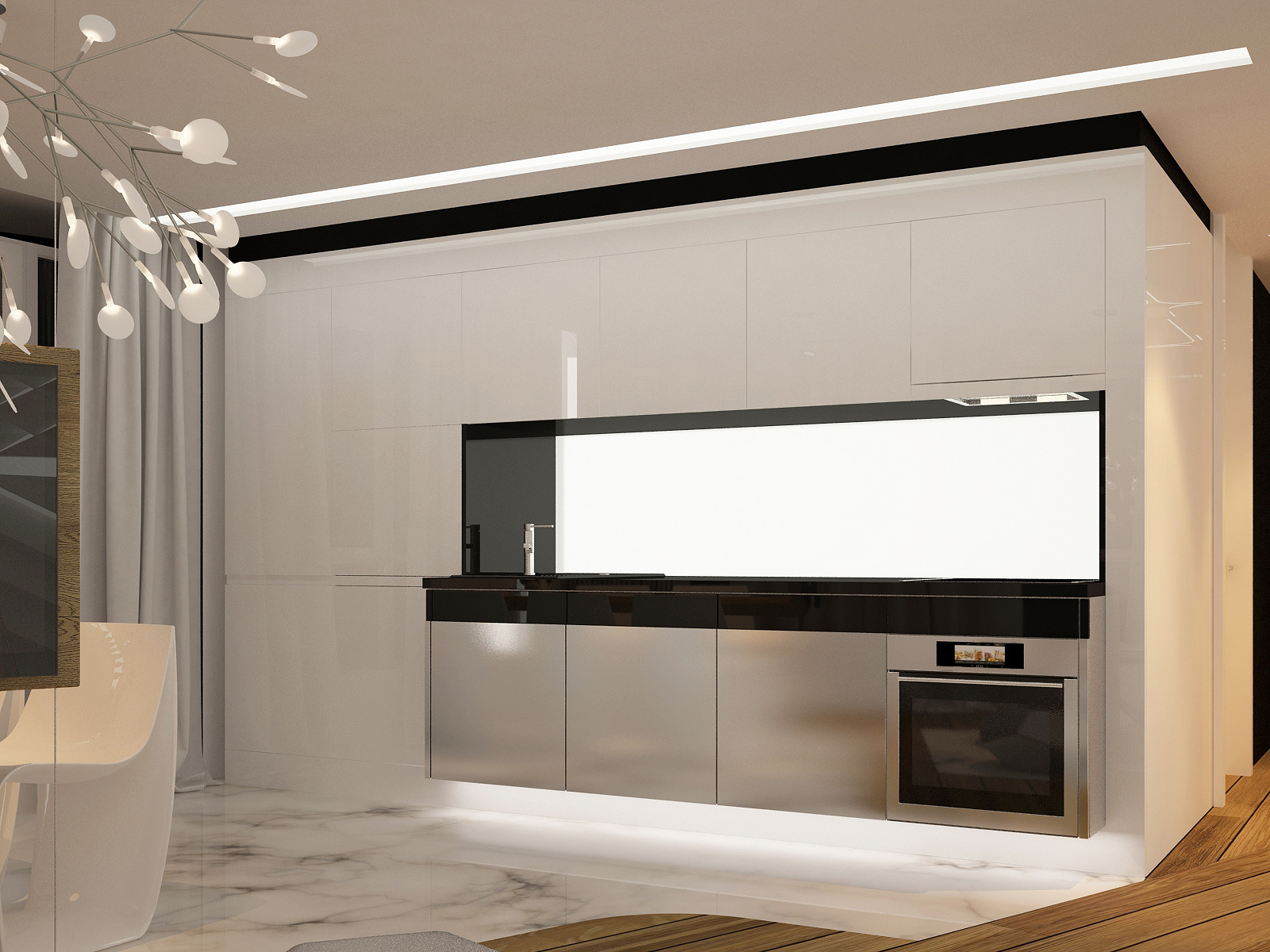 Style Kitchen Simple Futuristic Futuristic Interior Design