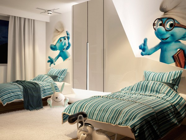 smurf kids room