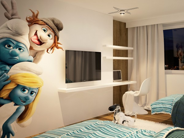 smurfette wall decal
