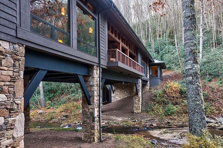Bridge House Home Across A Stream