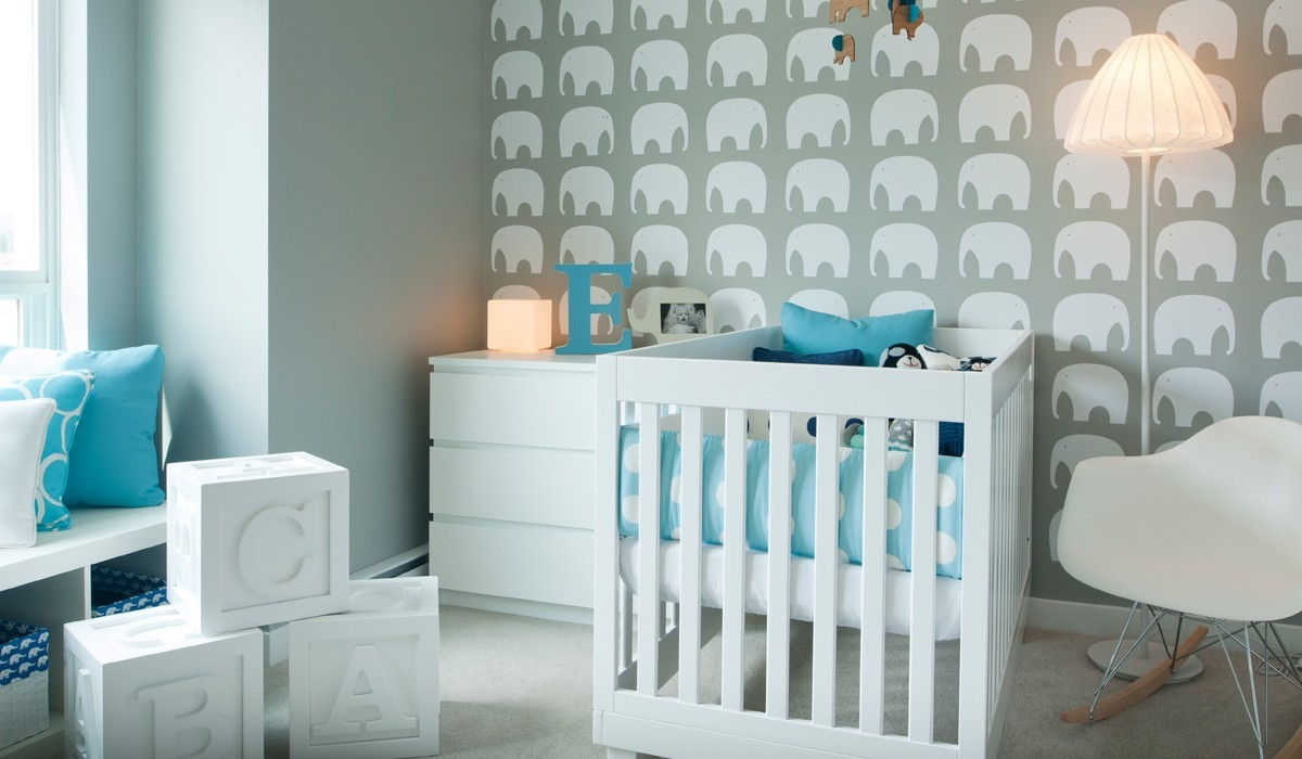 teal nursery design | Interior Design Ideas.