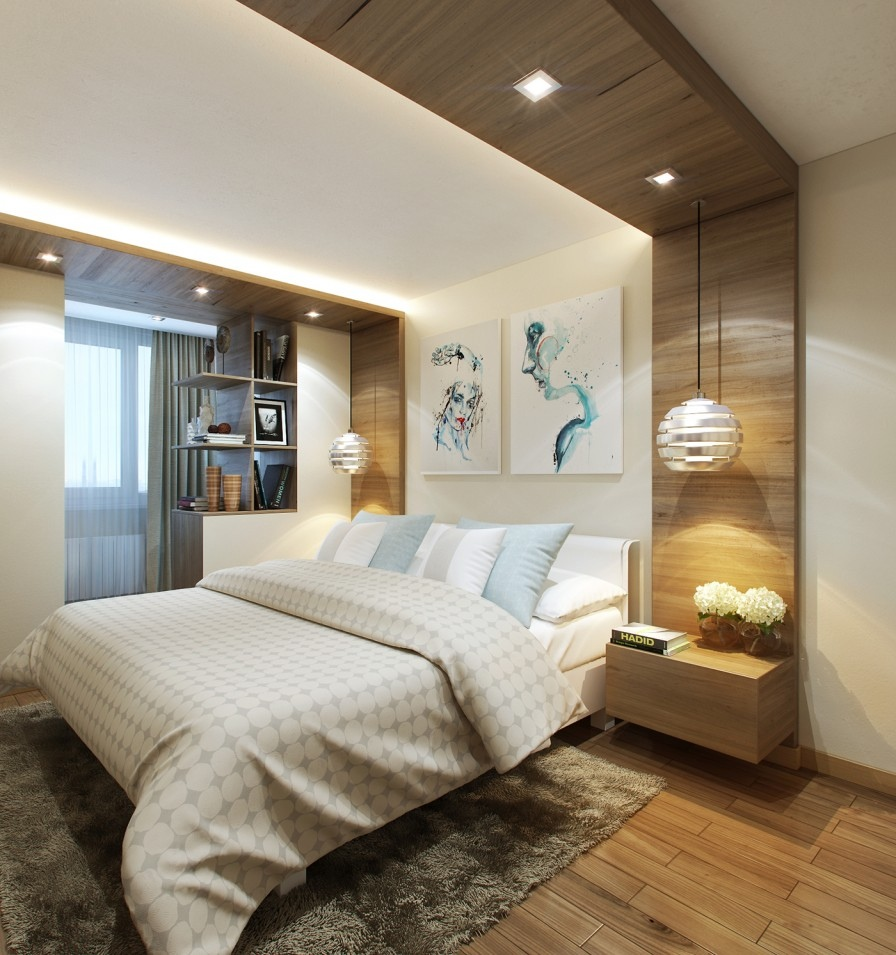 Small bedrooms use space in a big way for Small bedroom wall pictures