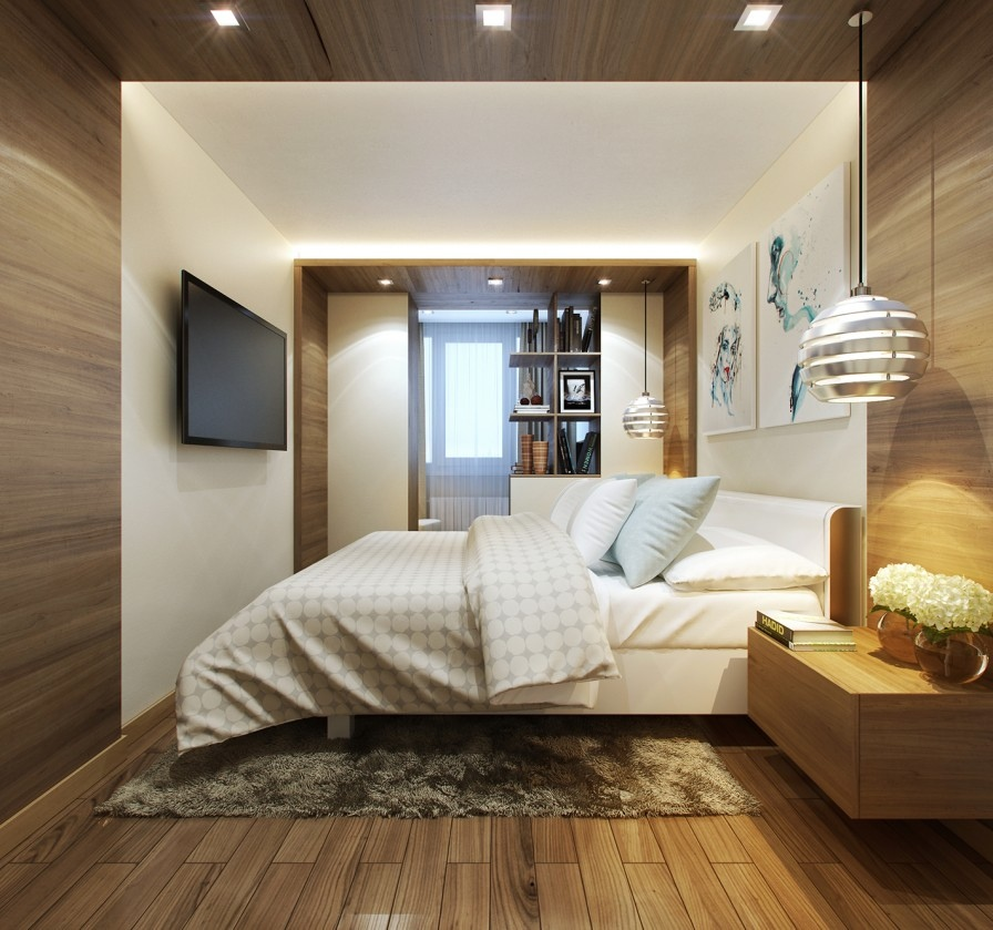 wood paneled bedroom | Interior Design Ideas.