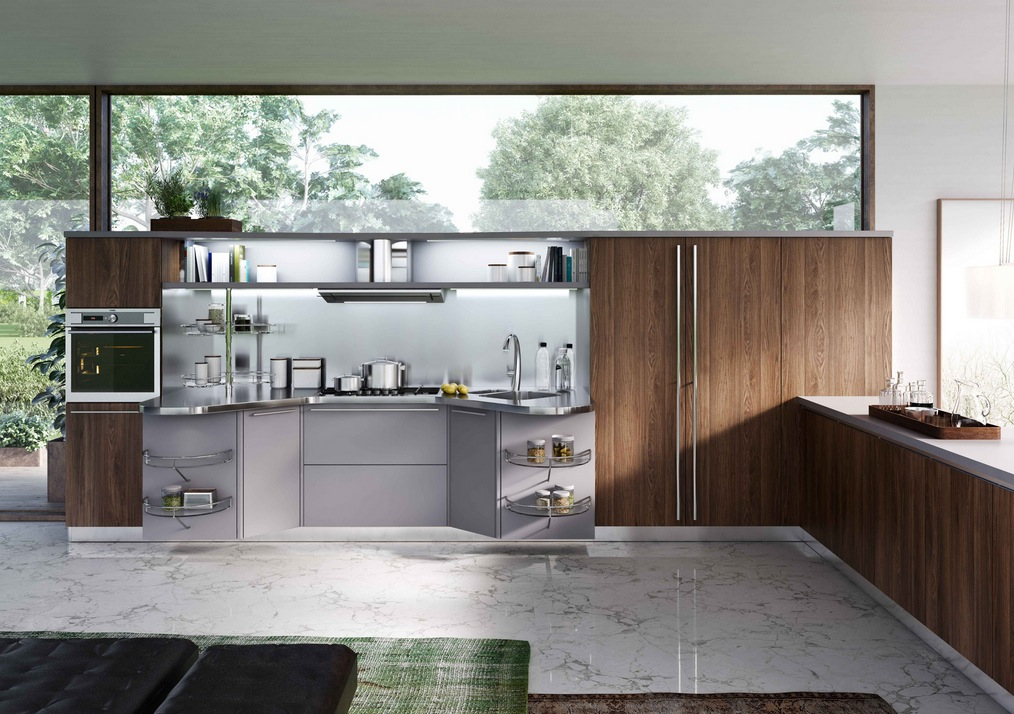 Modern italian kitchens from snaidero for Cuisine wooden