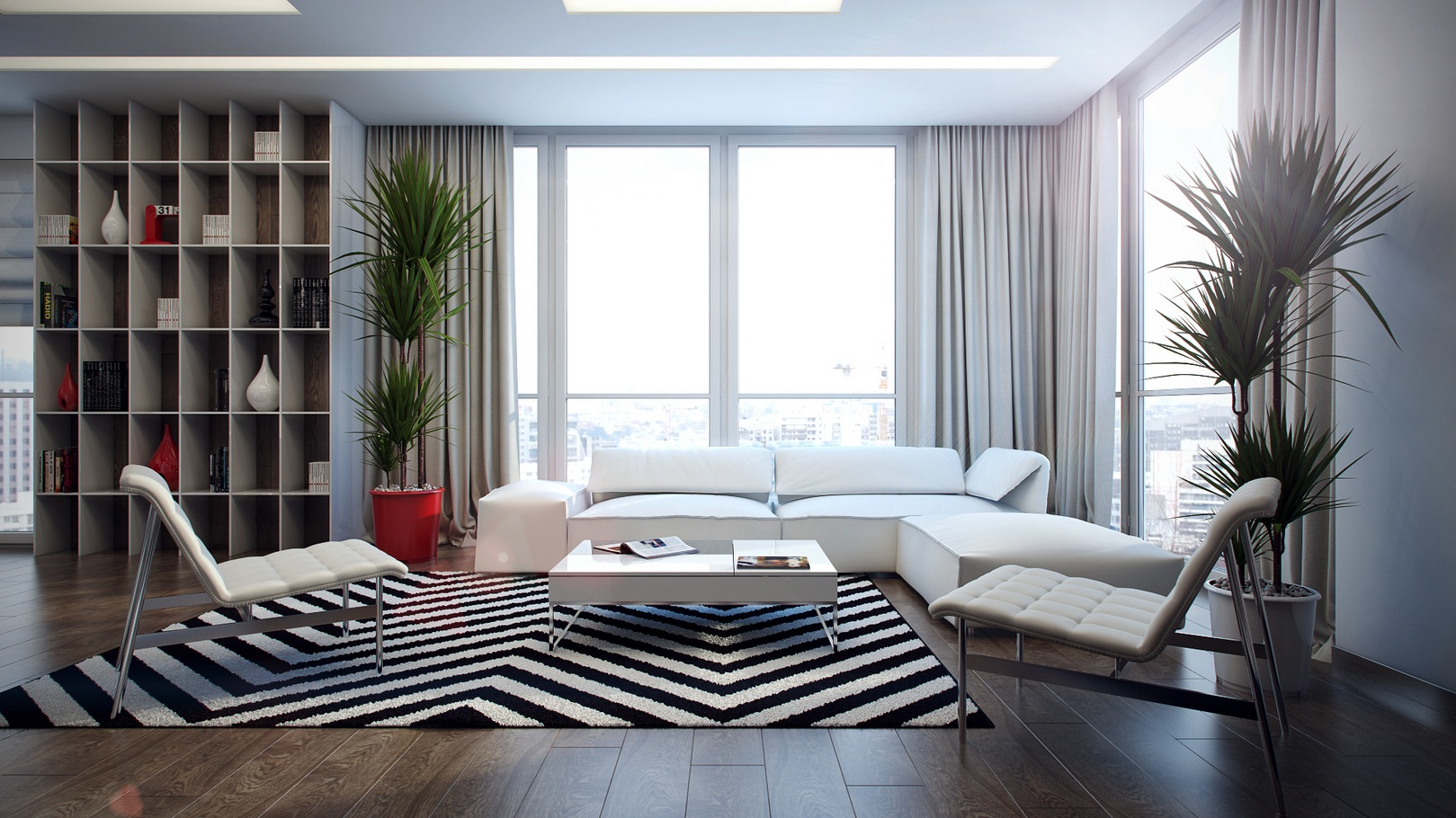 monochrome living room interior design ideas