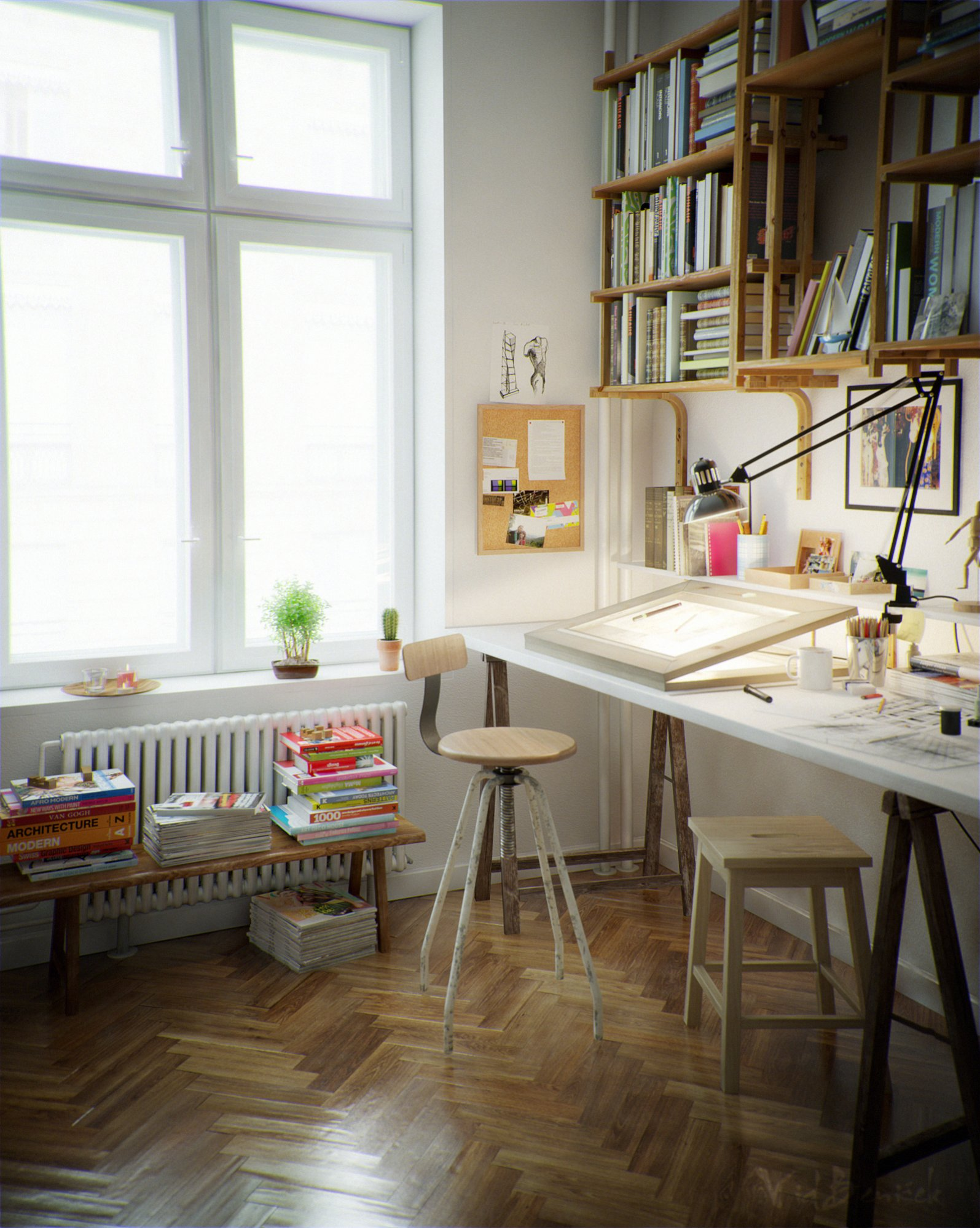 Beautiful home offices workspaces for Studio interior ideas