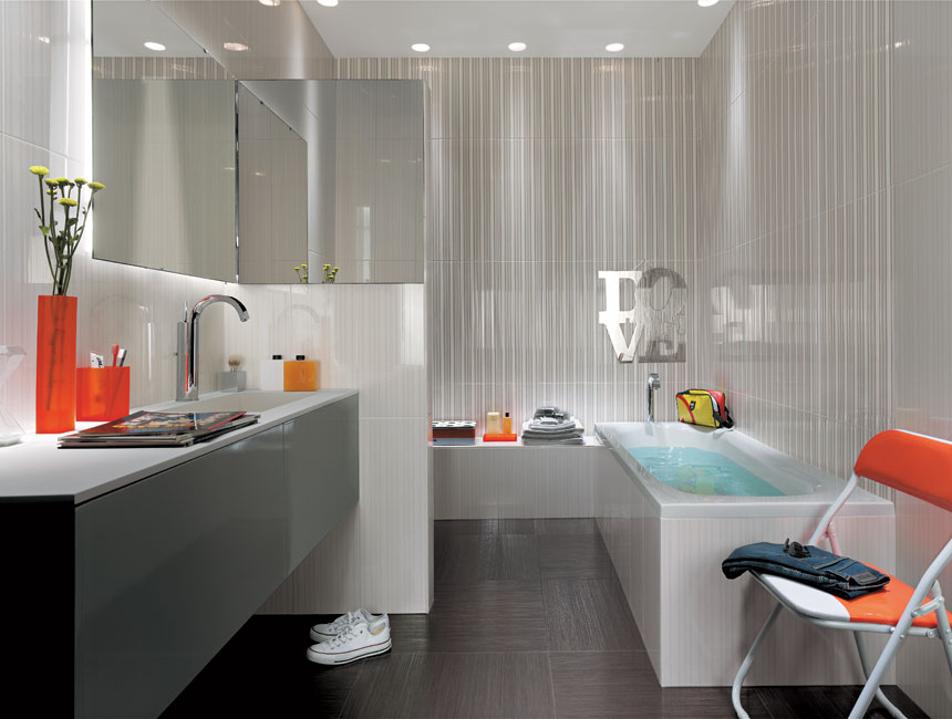 Gray bathroom tiles interior design ideas for Bathroom ideas gray tile
