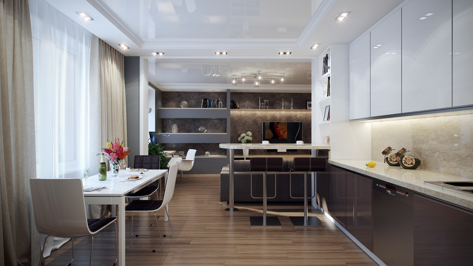 Modern Dining Suite - Striking home visualizations by pavel vetrov