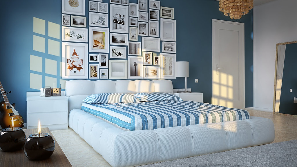 Blue White Kids Room Interior Design Ideas