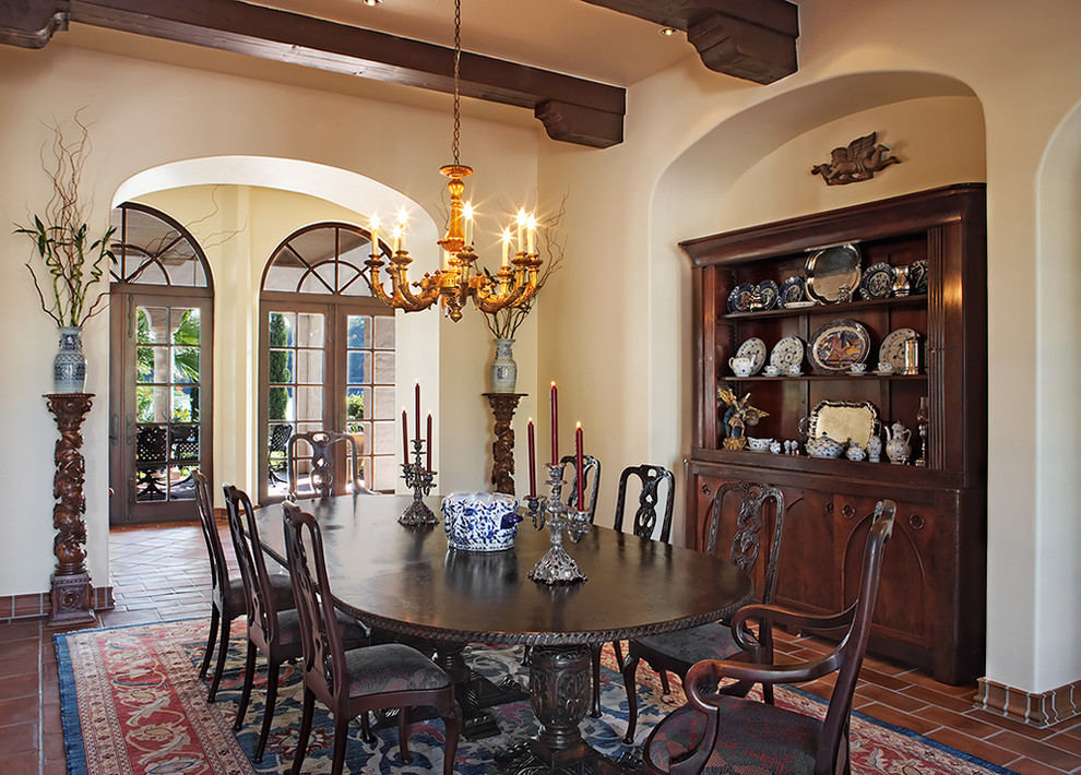 A grand lakeside home with rustic charm for Dining room niche ideas