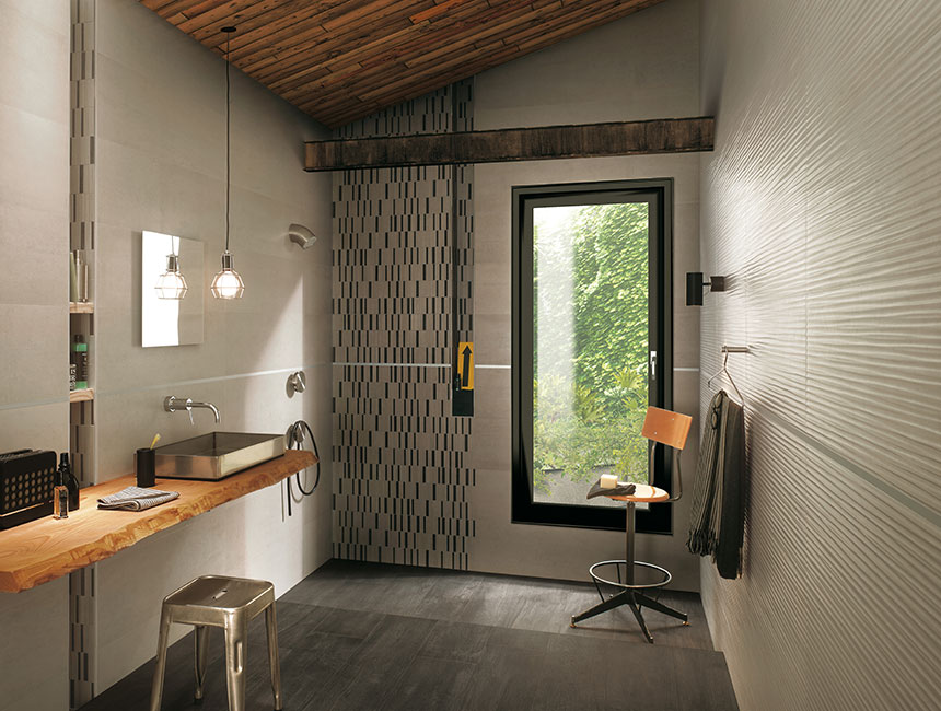 Black beige bathroom tiles interior design ideas for Beige and black bathroom ideas