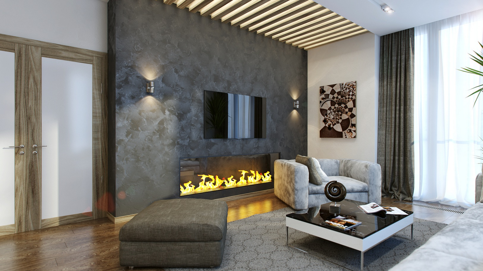 modern fireplace interior design ideas