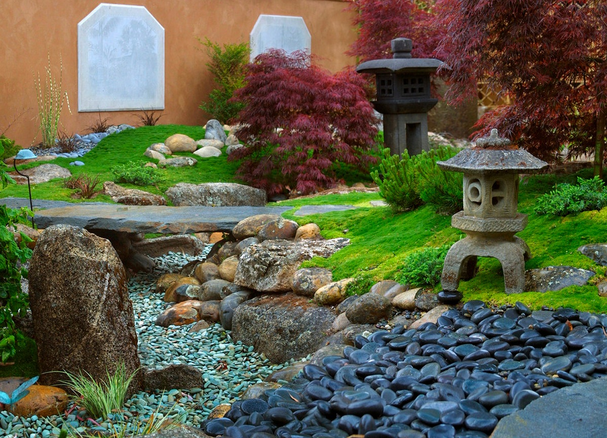 Rockery interior design ideas for Japanese style garden buildings