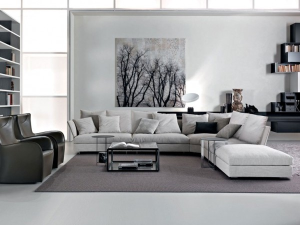 Gray white lounge