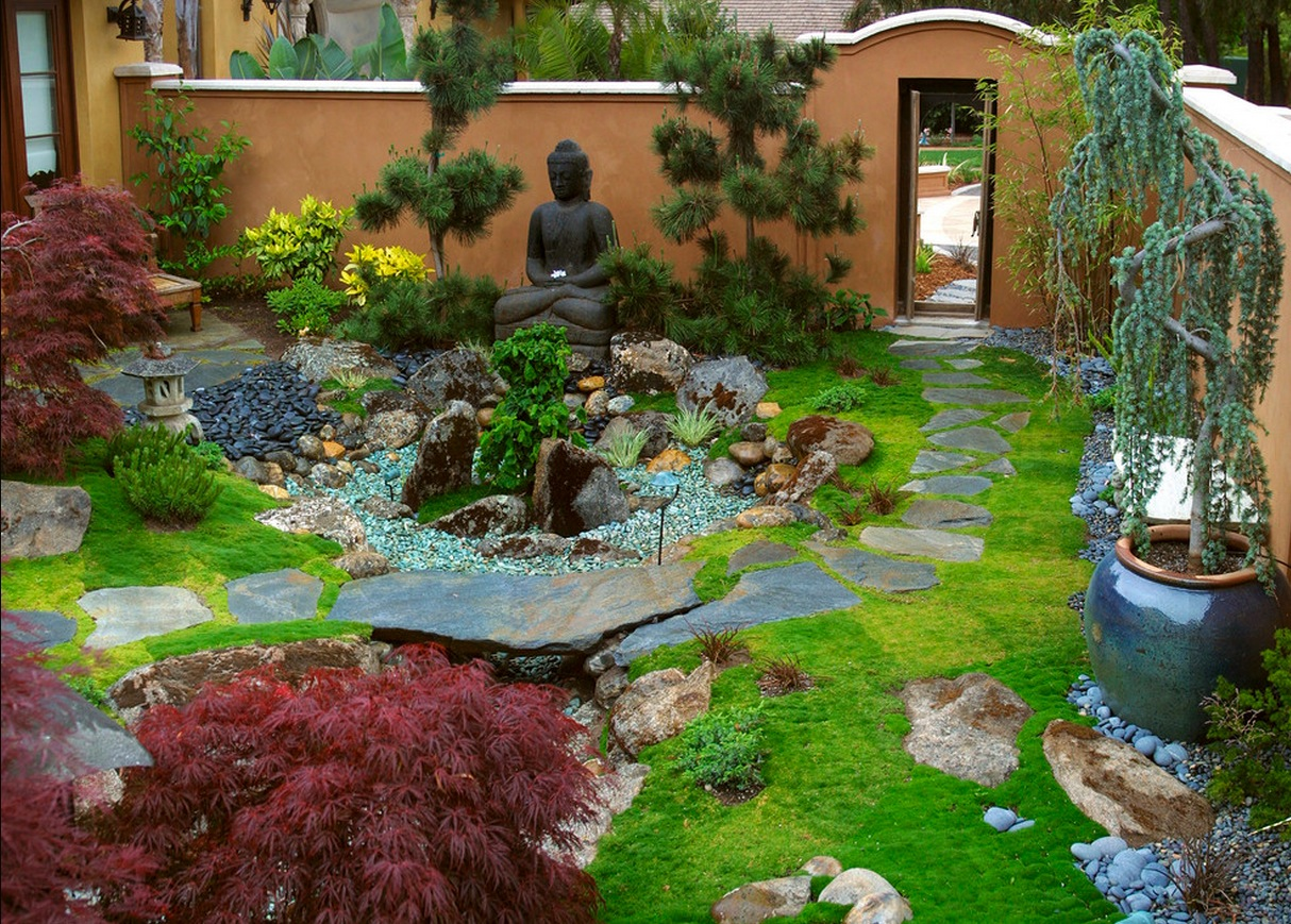 Zen garden interior design ideas for Small japanese garden layouts