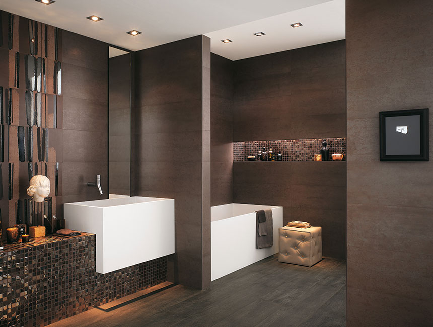 Top to toe lavish bathrooms for Dark bathrooms design