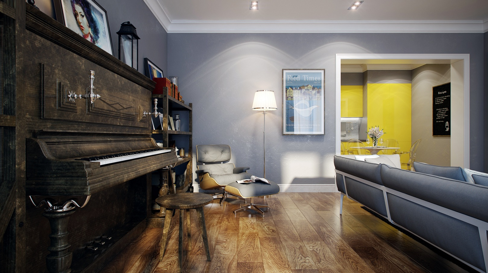 Wood Flooring - Striking home visualizations by pavel vetrov